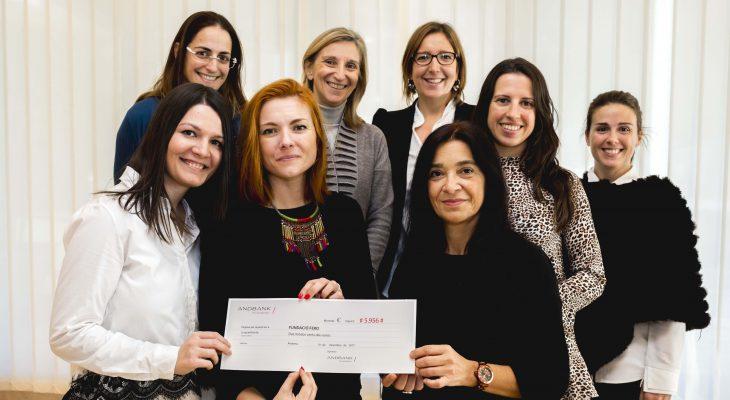 Andbank recapta 5.956€ contra el càncer