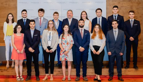 Andbank welcomes the young students who are taking part in the Andbank Trainee Program