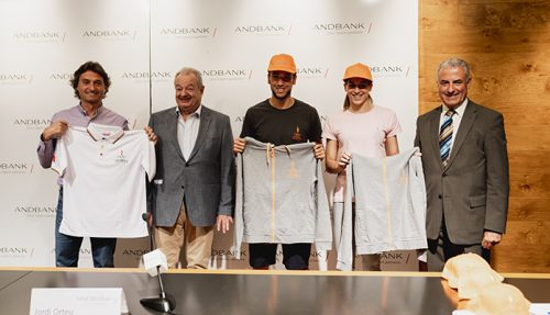 Andbank and the AOC present the strip that the Andorran team will wear at the 2018 Mediterranean Games in Tarragona