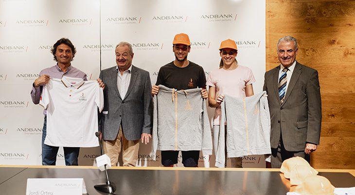 Andbank i COA presenten l'equipament que la delegació andorrana portarà als Jocs del Mediterrani Tarragona 2018