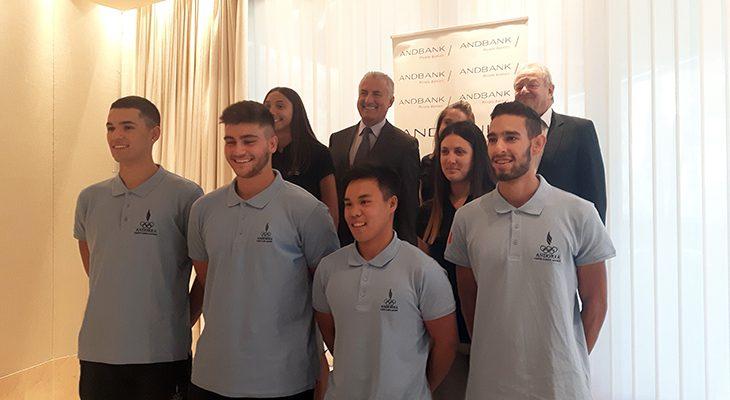 El COA presenta la delegació per als Jocs de la Joventut, amb el patrocinador d'Andbank
