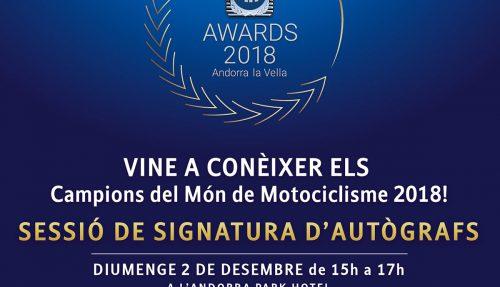 Ganadores del sorteo para asistir a la firma de autógrafos de los grandes pilotos de la FIM.