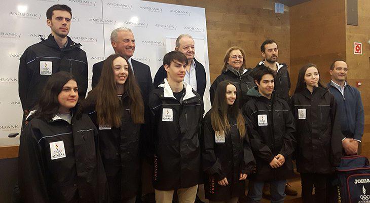 Andbank y COA presentan la delegación andorrana que asistirá al Festival Olímpico de la Juventud Europea