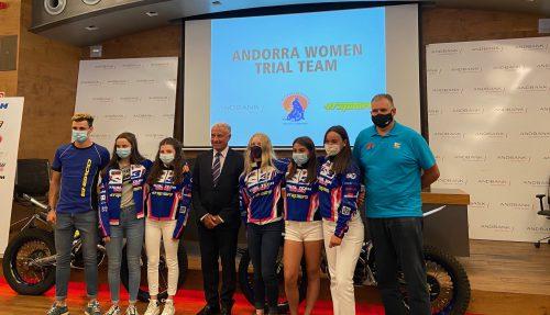 Andbank referma la seva col·laboració amb l'equip femení de trial Andorra Women Trial Team