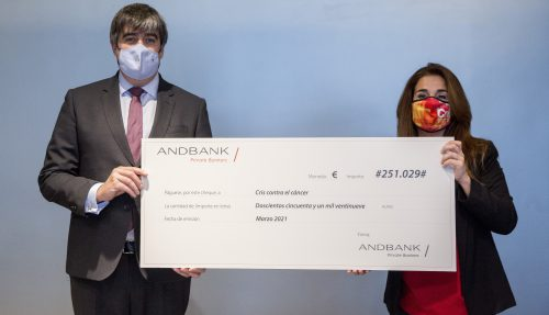 Andbank España fait un don de 250 000 euros à CRIS contre le cancer à travers son fonds SIGMA Global Sustainable Impact (GSI)