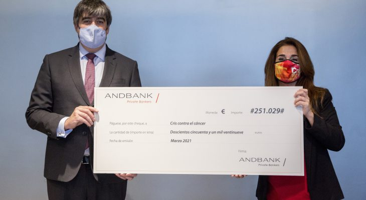 Andbank España donates 250,000 euros to CRIS against cancer through its SIGMA Global Sustainable Impact (GSI) fund